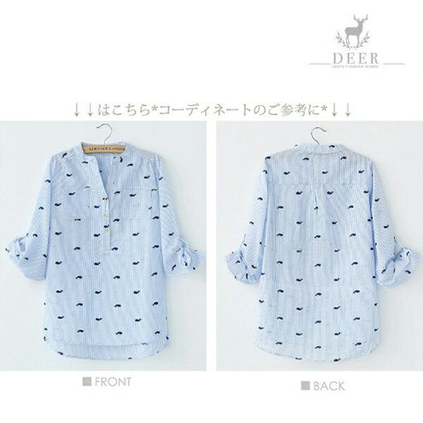 襯衫 DEER 小鯨魚印花襯衫《2色》 1