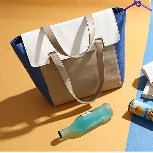 通勤OL風品牌合作款翻蓋手提側背包 特價$199元超值高CP首選