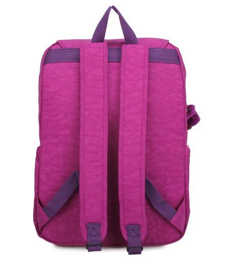 OUTLET代購【KIPLING】雙側口袋大容量旅行後背包  桃紫色 1
