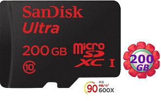 SanDisk 200GB 200G microSDXC【90MB/s】Ultra 600X microSD micro SD SDXC UHS UHS-I Class 10 C10 原廠包裝 記憶卡 手機記憶卡