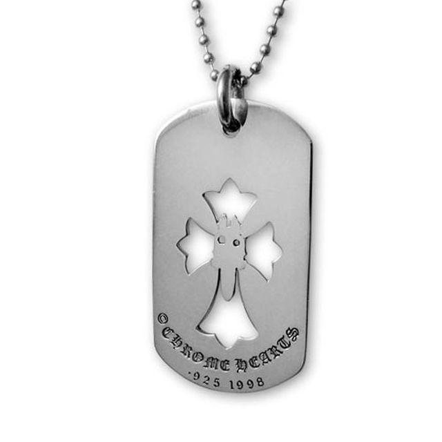 【現貨商品】【Chrome Hearts】LA 限定十字架匕首純銀軍牌項鍊(CHDT-010LA  0113000000) 1