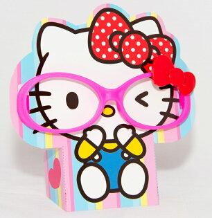 Hello Kitty 可愛眼鏡框加台座 可戴可擺飾 日本帶回正版商品