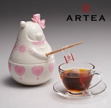 ARTEA粉愛心Tea熊罐(3款推薦好茶)3gX12包-Bear茶罐 - 限時優惠好康折扣