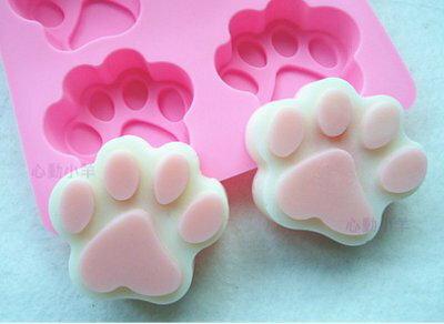 心動小羊^^韓國新品6聯矽膠模具/超美-DIY手工皂模具/香皂模具/可愛貓爪