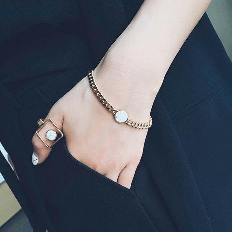戒指 個性紋理珠珠金屬風戒指【TSWD578】 BOBI  07/07 2