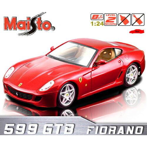 【Maisto】Ferrari 599 GTB《1/24 》合金組裝車 -紅
