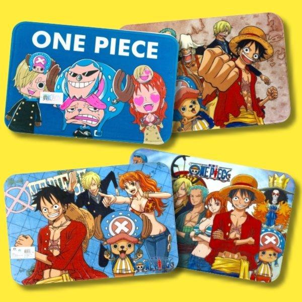 卡通長毛絨腳踏墊~One Piece航海王 海賊王~魯夫 娜美 騙人布 布魯克 喬巴 索隆