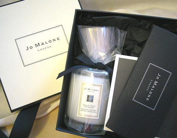 *禎的家*英國夢幻香水名牌 Jo Malone  英國梨與小蒼蘭 香氛蠟燭 60g 原廠禮盒 預購7/25