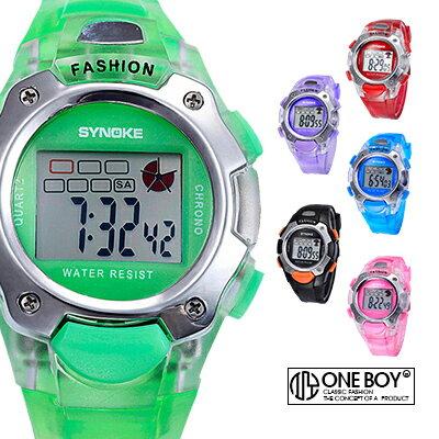 『 One Boy 』【N99319】童玩色感半透造型運動電子手錶