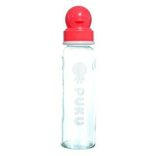 『121婦嬰用品館』PUKU 超厚防滑標準玻璃奶瓶 - 粉240ml 0