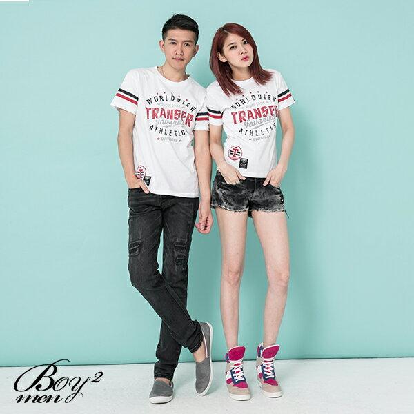 ☆BOY-2☆【KK4029】情侶短T休閒TRANSER斑駁印花 2