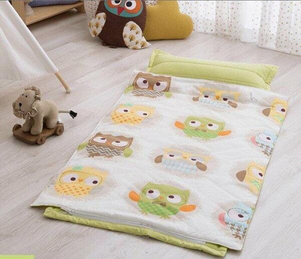 韓國 PRIELLE 睡袋【綠色貓頭鷹】