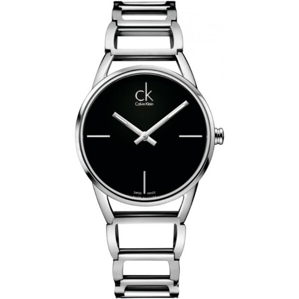 CK 璀璨系列^(K3G23121^) 鏤空手環腕錶 黑面33.5mm ~  好康折扣
