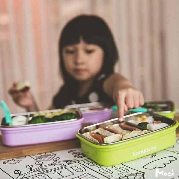 美國【Kangovou】小袋鼠不鏽鋼安全餐盒(紫丁香) 2