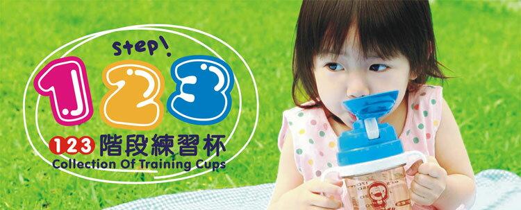 PUKU藍色企鵝 - 奶嘴+訓練吸管練習杯(摺疊握把) 240cc (水藍/粉紅) 1