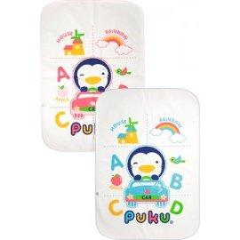 PUKU藍色企鵝 - 兒童加大防濕墊 92x132cm (水藍/粉紅) 0