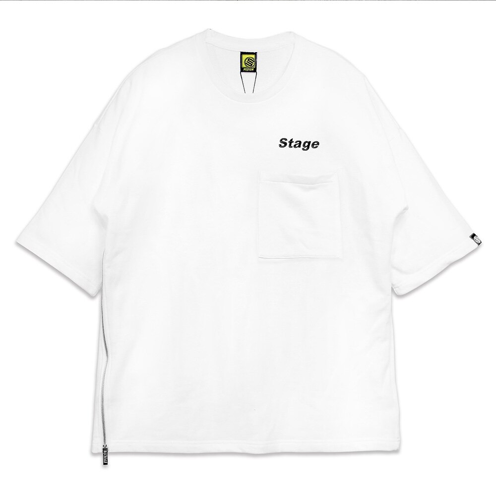 STAGE TEE ZIPPER SS BIG TEE 黑色 / 白色 兩色 4