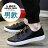 格子舖*【AA8802】男款韓版雜誌穿搭單品 透氣皮革 魔鬼氈沾黏 休閒鞋 板鞋 帆布鞋 黑色/白色 2色 1