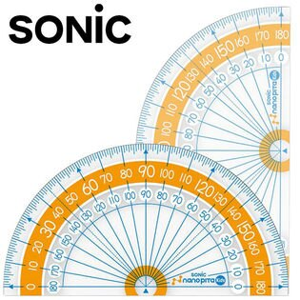 SONIC 超大數字分度器 - 9公分量角器 ( SK-7882 )