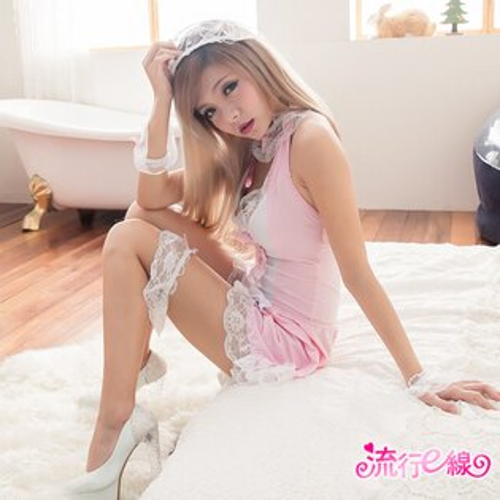 角色扮演清純性感女僕裝COSPLAY服裝 大尺碼女傭制服XL號*流行E線A461