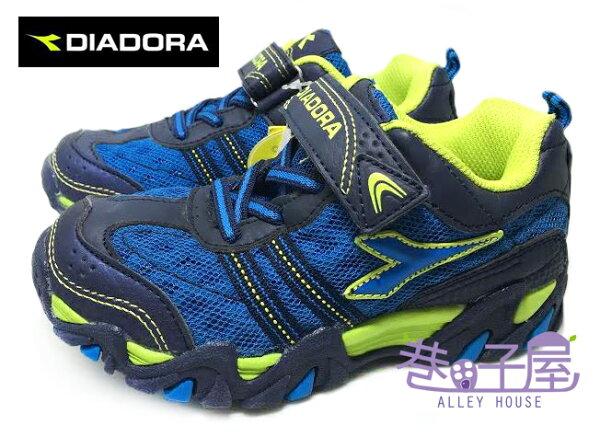 【巷子屋】義大利國寶鞋-DIADORA迪亞多納 男童寬楦戶外越野慢跑鞋 [9796] 藍 超值價$398