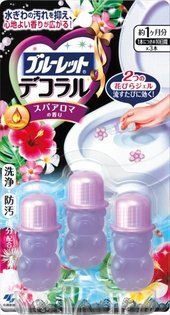 【小林製藥】BLUELET DECO馬桶清潔芳香花瓣凝膠- spa香氣3入裝