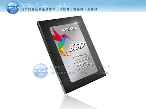 「YEs 3C」ADATA 威剛 SP550 120G SSD 固態硬碟 SMI控制晶片 TLC 支援高階LDPC除錯機制、RAID Engine、Data Shaping等功能