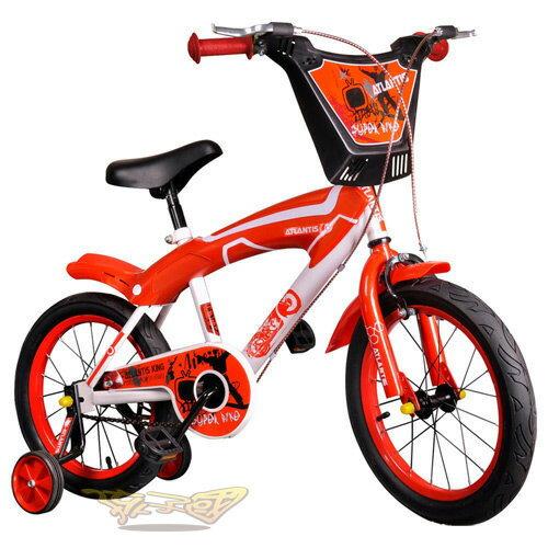 【孩子國】 16吋街頭塗鴉兒童腳踏車/自行車-紅色