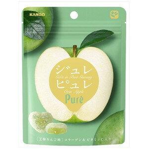 有樂町進口食品 甘樂Pure青蘋果軟糖63g J45 4901351059326 3