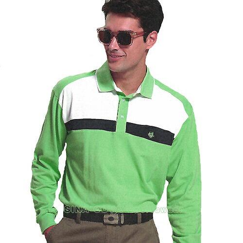 【義大利 SINA COVA】男女運動休閒吸濕排汗長POLO衫(淺綠#S812A1) - 限時優惠好康折扣