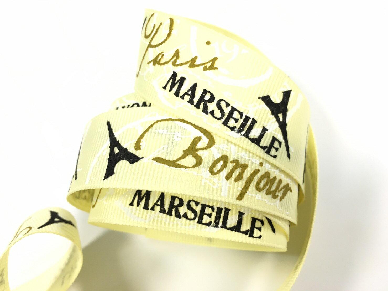 【Crystal Rose緞帶專賣店】巴黎鐵塔22mm3碼裝(3色) 0