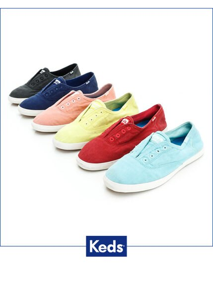 Keds 經典樂活水洗休閒鞋-海軍藍(限量) 套入式│懶人鞋│平底鞋 4