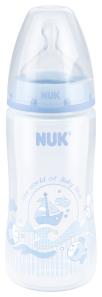 『121婦嬰用品館』 NUK Rose&Blue  寬口徑PP奶瓶 300ml - 藍(1號中圓洞) 0