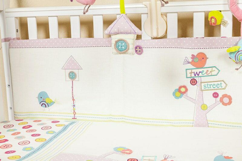 【La Joie喬依思】鳥語花香5件套純綿 嬰兒寢俱組 1