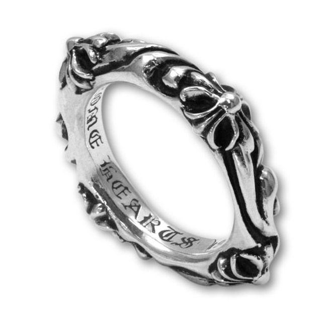 【海外訂購】【Chrome Hearts】SBT band十字雕花純銀戒指(CHR-015) 1