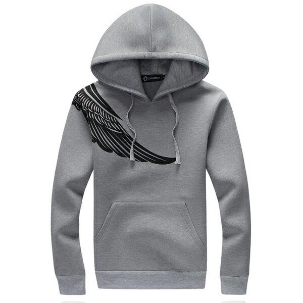 ◆快速出貨◆刷毛T恤 連帽刷毛 情侶T恤 暖暖刷毛 MIT台灣製.連帽-肩膀天使翅膀【YS0430】可單買.艾咪E舖 3