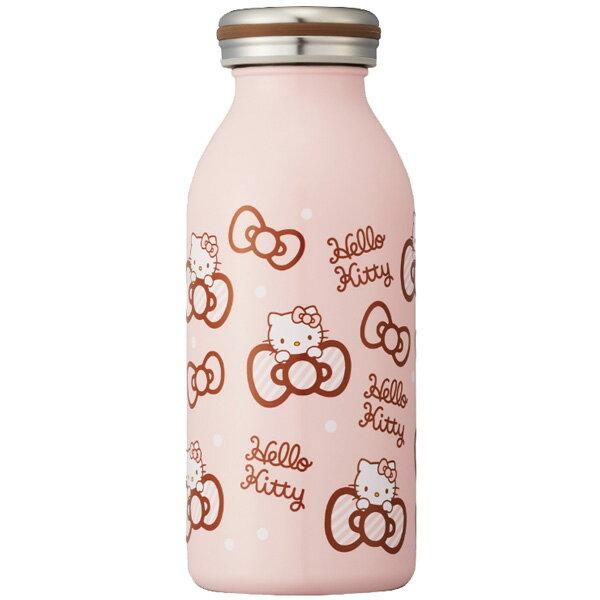 日本 mosh!×sanrio Hello Kitty 不鏽鋼牛奶瓶造型保溫瓶 保冷隨行杯 350ml 粉紅*夏日微風*