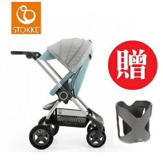 【本月贈市價$1050杯架】【贈Borny安全帶護套(花色隨機)】Stokke Scoot 2代嬰兒手推車(湖水藍) 0