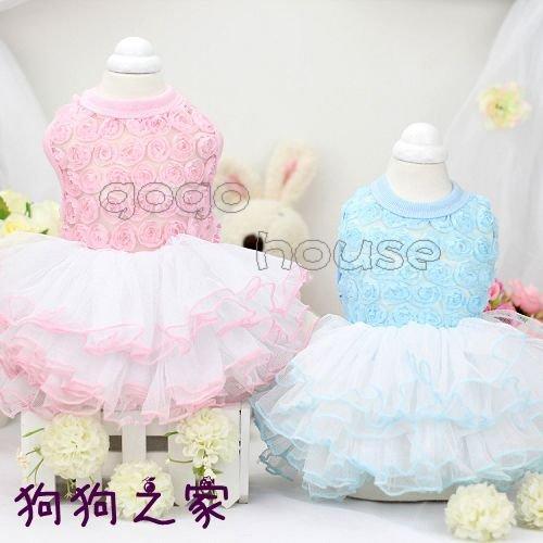 ☆狗狗之家☆Lollypop pet 玫瑰 花朵 網紗 蕾絲 公主 蓬蓬裙 澎澎裙