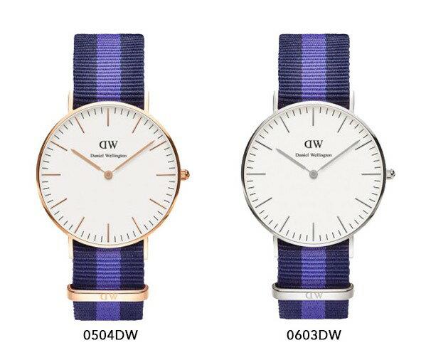 瑞典正品代購 Daniel Wellington 0504DW 玫瑰金 尼龍 帆布錶帶 女錶手錶腕錶 36MM 2