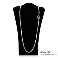 母親節禮物推薦大東山珠寶 7mm南洋貝寶珠多層次變化長版項鍊 經典白 設計師旗艦版