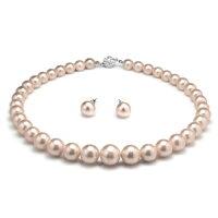 母親節禮物推薦大東山珠寶 南洋貝寶珠寶塔款項鍊套組 - 粉