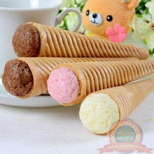 有樂町進口食品 固力果Glico 3兄弟冰淇淋杯餅乾甜筒餅袋(89g)固力果三兄弟3種口味(巧克力、草莓、香草) 4901005102996 1