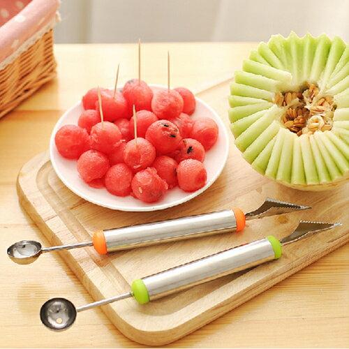 挖球器 不鏽鋼水果挖球器 兩用挖球勺