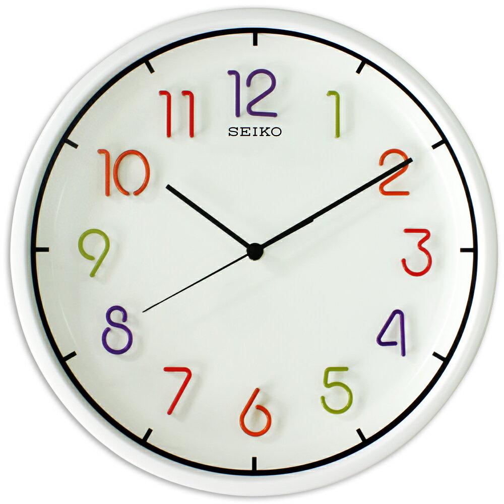 SEIKO 日本精工QXA447H 彩虹糖果立體數字滑動式秒針掛鐘 - 限時優惠好康折扣