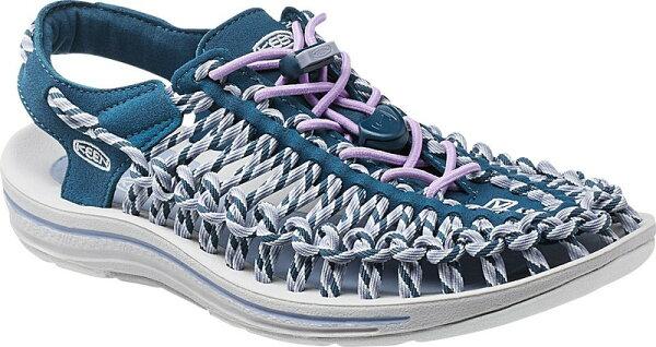 [ KEEN ] 涼鞋/運動涼鞋/拖鞋/繩編涼鞋 UNEEK 女 1014631 深藍粉紫/台北山水