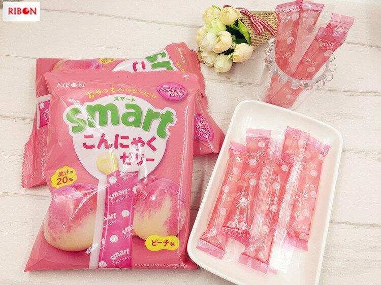 有樂町進口食品 日本進口 RIBON 立夢 果凍條 葡萄味/水蜜桃 10入/包 150g 4903316614175 2