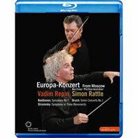 2008歐洲音樂會 柏林愛樂重返莫斯科 Rattle conducts Beethoven, Stravinsky & Bruch (藍光Blu-ray) 【EuroArts】 - 限時優惠好康折扣