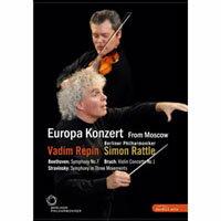 2008歐洲音樂會 柏林愛樂重返莫斯科 Rattle conducts Beethoven, Stravinsky & Bruch (DVD) 【EuroArts】 0
