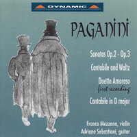 帕格尼尼:小提琴與吉他奏鳴曲3 Nicolo Paganini: Sonatas for violin and guitar Op.2 and Op. 3 (CD)【Dynamic】 - 限時優惠好康折扣